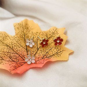 Kate Spade Lovely Enamel Glaze Flower Earrings